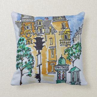 Place Alphonse Deville | Paris, France Throw Pillow