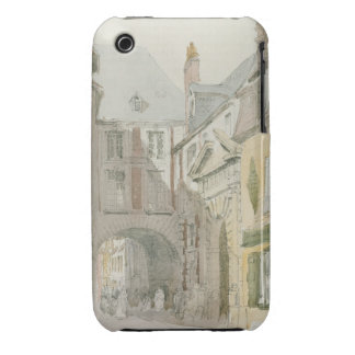 Place Barthelme, Paris, c.1829 (w/c & grey wash ov iPhone 3 Case-Mate Cases