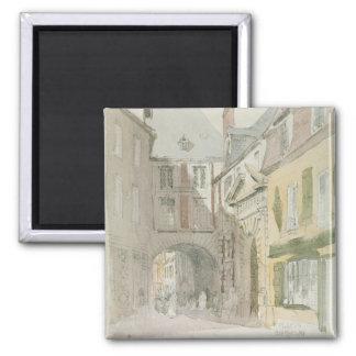 Place Barthelme, Paris, c.1829 (w/c & grey wash ov Magnet