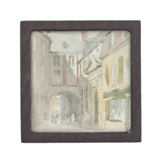 Place Barthelme, Paris, c.1829 (w/c & grey wash ov Premium Keepsake Boxes