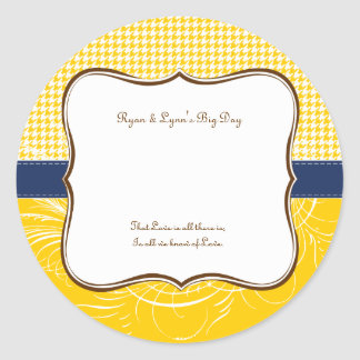 Place Card Label Summer Wedding Yellow