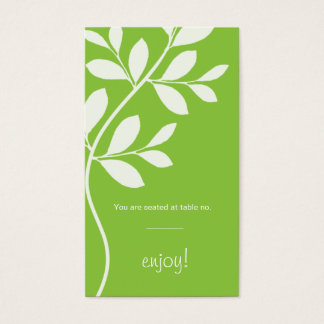 Place Card Wedding Leaf Branch lime green