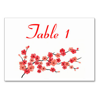 Place Card with Cherry Blossoms Table Cards