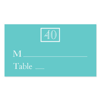 Place Cards / Name Cards - Aqua Double-Sided Standard Business Cards (Pack Of 100)