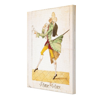 Place caricature of the returning emigrants canvas print