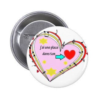 PLACE COEUR .PNG PINBACK BUTTONS