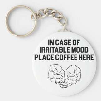 Place Coffee Here Keychain