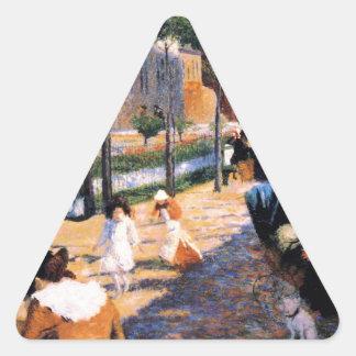 Place d'Anvers, Paris by Federico Zandomeneghi Triangle Sticker
