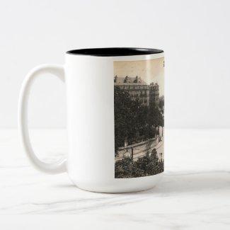 Place Darcy, Dijon, France Vintage mug