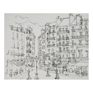 Place Dauphine, Ile de la Cite | Paris, France Panel Wall Art
