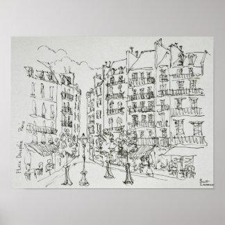 Place Dauphine, Ile de la Cite | Paris, France Poster