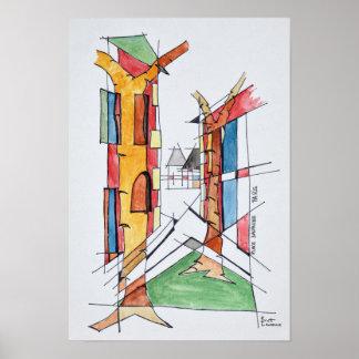Place Dauphine | Ile de la Cite, Paris Poster