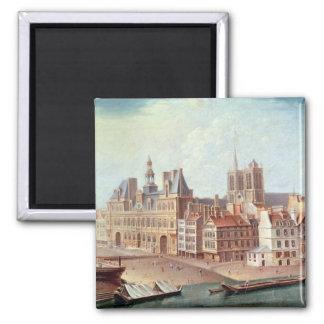 Place de Greve in 1750 Magnet