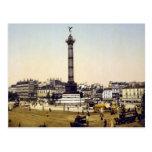 Place de la Bastille, 1900, Paris Postcards