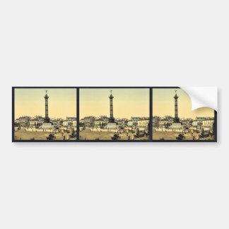 Place de la Bastille, Paris, France classic Photoc Car Bumper Sticker