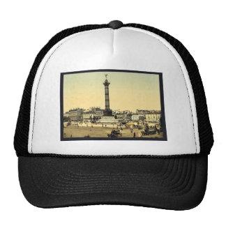 Place de la Bastille, Paris, France classic Photoc Hats