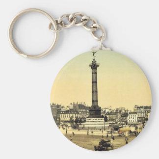 Place de la Bastille, Paris, France classic Photoc Keychains