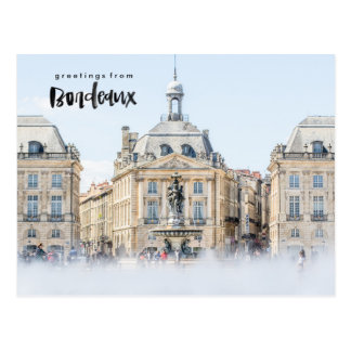 Place de la Bourse Bordeaux France Travel Postcard