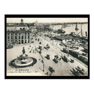 Place de la Bourse, Bordeaux, France Vintage Post Card