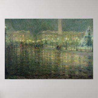 Place de la Concorde, c.1909 Poster