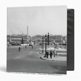 Place de la Concorde, designed in 1757 3 Ring Binder