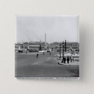 Place de la Concorde, designed in 1757 Pinback Button