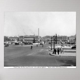 Place de la Concorde, designed in 1757 Poster