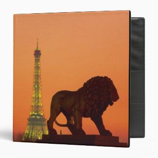 Place de la Concorde; Eiffel Tower; Obelisk; 3 Ring Binder