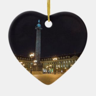 Place de la concorde in Paris at night Ceramic Ornament