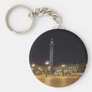 Place de la concorde in Paris at night Keychain