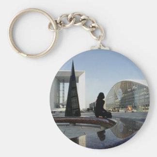 Place de la Concorde, new Arc de Triomphe, Paris, Keychain