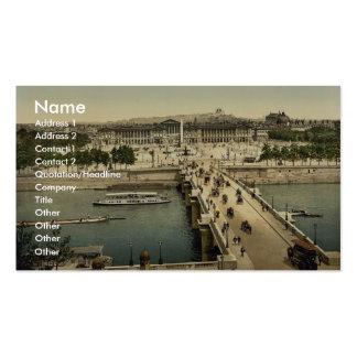 Place de la Concorde, Paris, France classic Photoc Business Cards