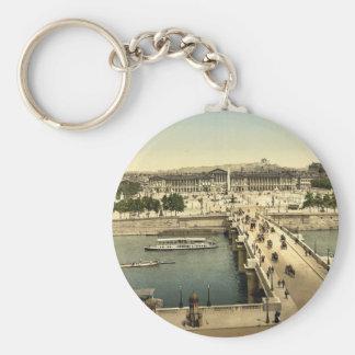 Place de la Concorde, Paris, France classic Photoc Keychain