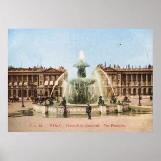 Place de la Concorde, Paris, France Vintage Poster