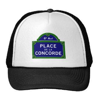 Place de la Concorde, Paris Street Sign Hats