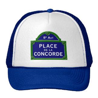 Place de la Concorde, Paris Street Sign Hat