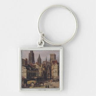 Place de la Haute-Vieille-Tour, Rouen, 1824 Key Chains