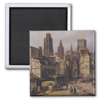 Place de la Haute-Vieille-Tour, Rouen, 1824 Magnet