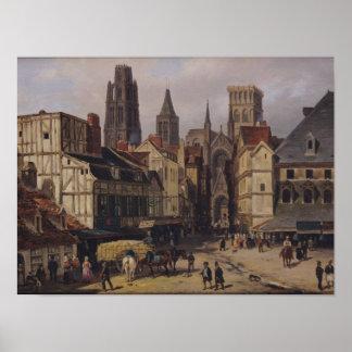 Place de la Haute-Vieille-Tour, Rouen, 1824 Poster