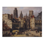 Place de la Haute-Vieille-Viaje, Ruán, 1824 Tarjetas Postales