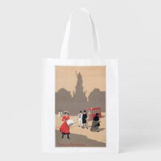 Place de la Republique Art Deco Scene Grocery Bag