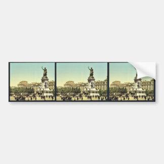 Place de la Republique, Paris, France classic Phot Car Bumper Sticker