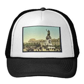 Place de la Republique, Paris, France classic Phot Trucker Hats