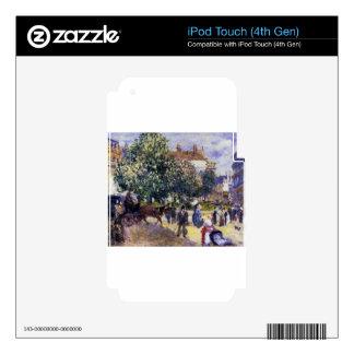 Place de la Trinite by Pierre-Auguste Renoir Decal For iPod Touch 4G