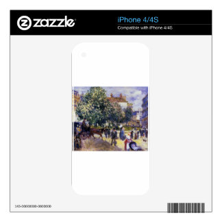 Place de la Trinite by Pierre-Auguste Renoir Decals For iPhone 4