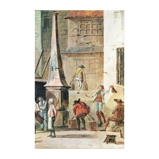 Place de l'Apport-Paris in Front of Grand Canvas Print