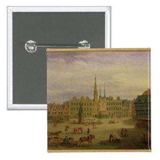 Place de L'Hotel de Ville, Cambrai, c.1780 Pinback Button