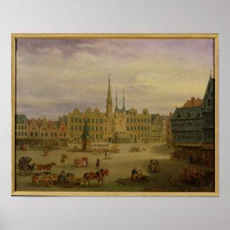 Place de L'Hotel de Ville, Cambrai, c.1780 Póster