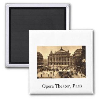 Place de l'Opera, Paris France c1925 Vintage 2 Inch Square Magnet