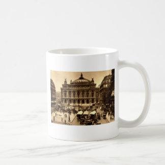 Place de l'Opera, Paris France c1925 Vintage Coffee Mug